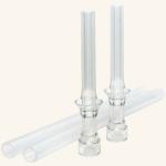 NUK Flexi Cup 300 ml Soft-Trinkhalm-Becher silber