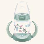 NUK  First Choice Обучающая бутылочка из полипропилена 150 мл с насадкой для питья из силикона