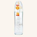 NUK New Classic Бутылочка стеклянная 240 мл c соской из латекса
