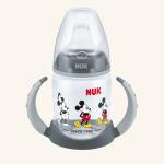 NUK First Choice Обучающая бутылочка 150 мл с насадкой для питья из силикона ДИСНЕЙ Микки Маус