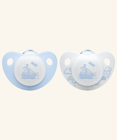 NUK Baby Rose & Blue Silikon-Schnuller