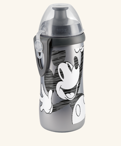 NUK Disney Mickey Junior Cup mit Clip und Push-Pull Tülle