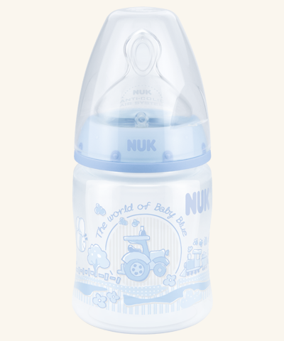 NUK First Choice Plus Baby Rose & Blue PP-Babyflasche 150ml