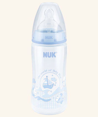 NUK First Choice Plus Baby Rose & Blue PP-Babyflasche 300ml