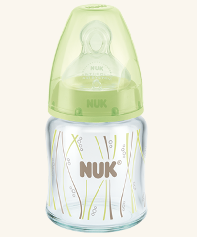 NUK First Choice Plus Glas-Babyflasche mit Silikonsauger
