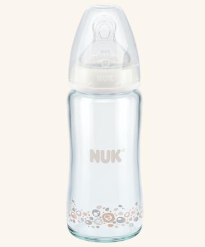 NUK First Choice Plus Glas-Babyflasche mit Silikonsauger