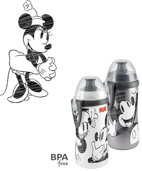 NUK Disney Mickey Mouse Junior Cup 300ml with push-pull spout