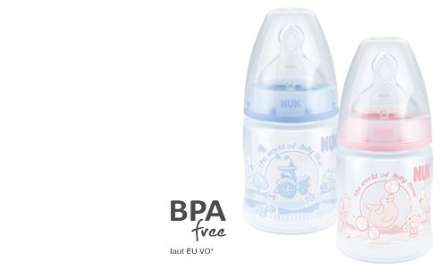 NUK First Choice Plus Baby Rose & Blue Baby Bottle 150ml with Teat