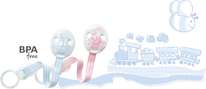 NUK Baby Rose & Blue Soother Band Duo