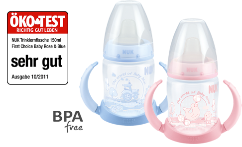 NUK Baby Rose & Blue Learner Bottle 150ml with spout