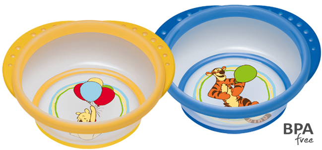 NUK Easy Learning Disney Winnie the Pooh Feeding Bowl with lid